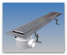 Sprchový podlahový odtokový žlab nerezový ZUSI70B/700 se sifonem PP40
