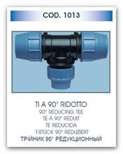 UNIDELTA T-kus redukovaný 75x63x75 UNI1013 pro polyethylenové trubky PE