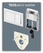 Podomítková nádržka WC TECEbox+tlačítko TECEbase+zvuková izolace