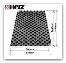 Systémová deska podlahového vytápění HERZ nopová 1400x800x51mm 1,12m2