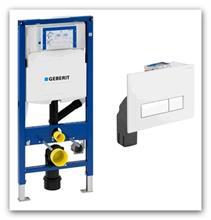 Geberit Duofix UP320 111.370.00.5 pro odsávání zápachu+tlačítko Sigma40 s odsáváním 115.600.KQ