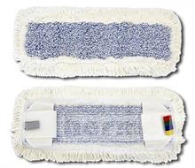 Plochý mop mikrovlákno kapsový bílé okraje / modrý vnitřní pás 50cm s jazyky