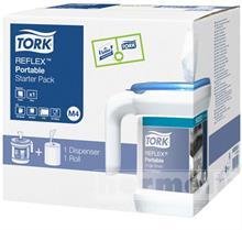 Přenosný zásobník na role se středovým odvíjením + náplň Tork Reflex™