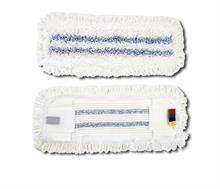 Kapsový mop mikrovlákno s modrými pruhy s jazyky 50cm