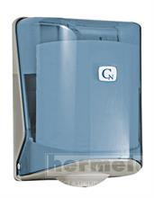 Zásobník papírových ručníků v roli s perforací caren - modrý