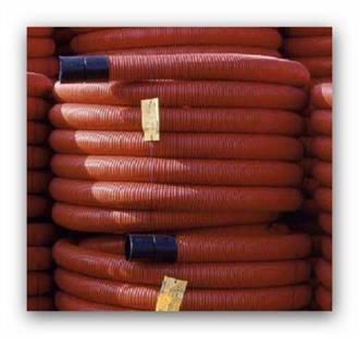 Kabelová chránička ochranná trubka korugovaná 50/42mm červená