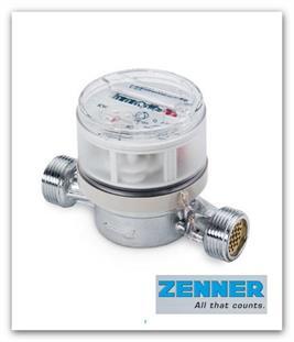 """Bytový vodoměr ZENNER ETWD-M 2,5-110-1/2"""" R80H40V na teplou vodu"""