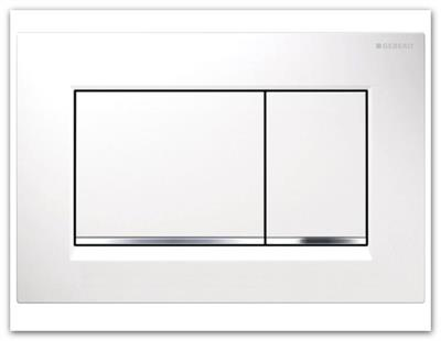 Geberit ovládací tlačítko SIGMA 30 bílá/lesklý chrom 115.883.KJ.1