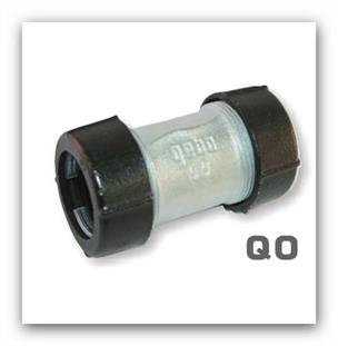 """Svěrná spojka GEBO QO 3/4"""" oboustranná pro ocelové a plastové potrubí"""