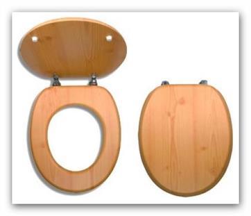 WC sedátko z dýhovaného dřeva Prestige Borovice Novaservis