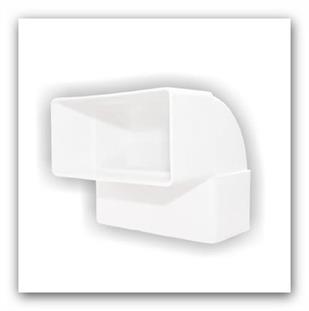 Plastové ventilační koleno ploché vertikál D/KPI 110x55