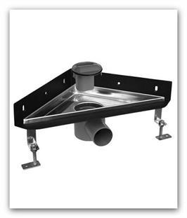 Sprchový podlahový odtokový žlab nerezový rohový Klasik PLUS ke zdi ZYK0293