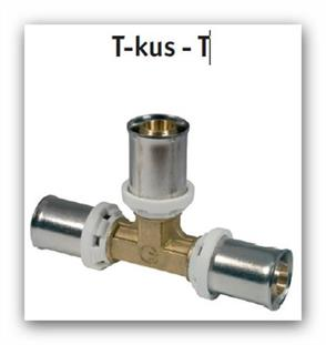 T-kus lisovací press FORNARA UNI-T 16x16x16 na Pex-Al-Pex