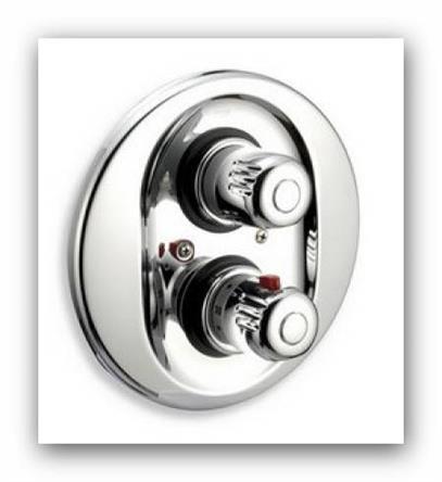 Podomítková termostatická sprchová baterie Aquamat 2650R.0