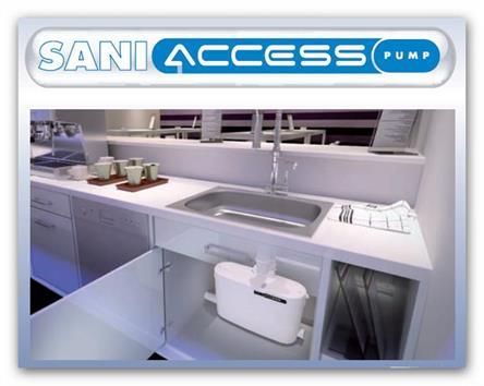 Saniaccess Pump sanitární čerpadlo koupelna i kuchyň  bez WC akce zima 2018