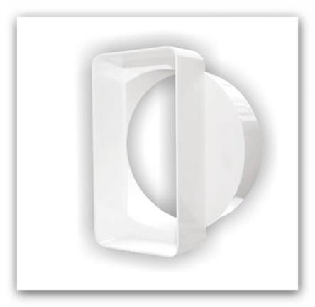 Plastová ventilační redukce trubková plochá D/ZK Ø100/110x55