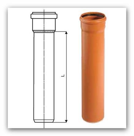 Kanalizační trubka KGEM SN4 160x4,0x0,5M