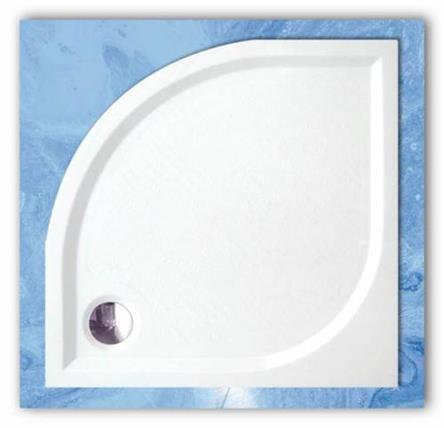 Sprchová vanička čtvrtkruhová z litého mramoru EP 90x90 Dream-M