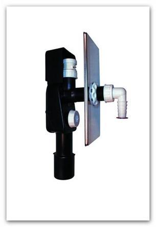Podomítková zápachová uzávěrka HL404.1 s přivzdušňovacím ventilem sifon pračkový