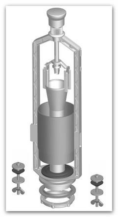 Vypouštěcí ventil SAM Holding T-4549B/I pro keramické nádržky