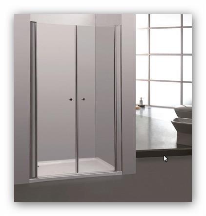 Sprchové dveře do niky COMFORT 101-105 clear NEW dvoudílné chrom/sklo čiré
