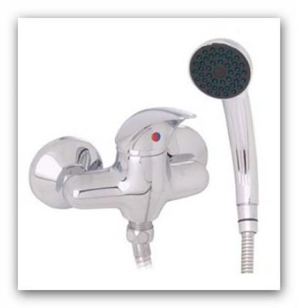 Baterie sprchová Elba GJ.3405-10.CR s příslušenstvím rozteč 100