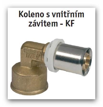 """Koleno s vnitřním závitem lisovací press FORNARA UNI-KF 16x2-1/2"""" na Pex-Al-Pex"""