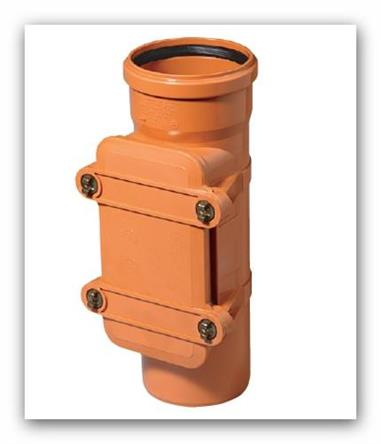 Kanalizační čistící tvarovka KGRE 200 obdélníkový uzávěr