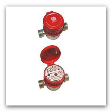 """Bytový vodoměr na teplou vodu Bonega 3/4"""" standartní T/20-130-2,5-B"""