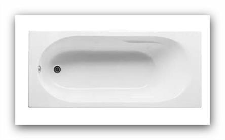 Akrylátová vana Jika LYRA plus 170x75 cm včetně nožiček H2328390000001