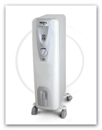 Olejový radiátor TESY CB1507E01R sedmičlánkový