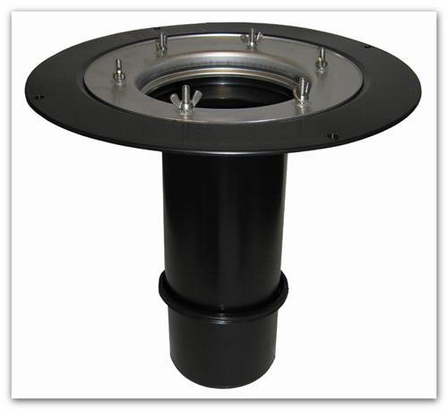 Střešní nástavec HL65 300mm/d125mm s pevnou izolační přírubou a izolační svorkou