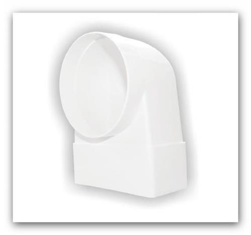 Plastové ventilační koleno s redukcí D/KLZ 104/110x55