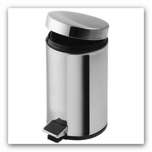Odpadkový koš chromový 20l