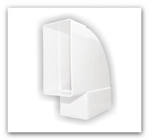 Plastové ventilační koleno ploché horizontál D/KPO 110x55