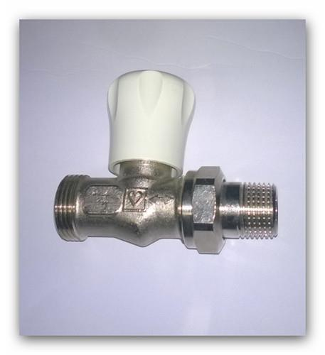 """Radiátorový ventil HERZ GF dvouregulační 1/2"""" přímý 5537 Eurokonus G3/4"""