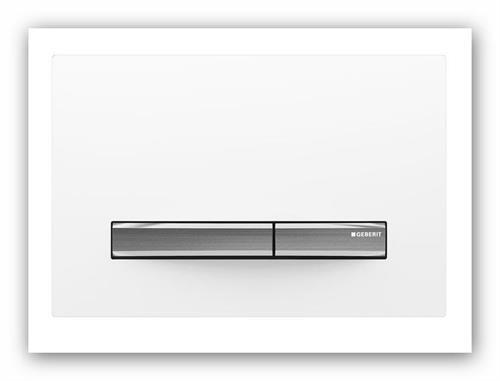 Geberit ovládací tlačítko SIGMA50 bílý/nerez 115.788.11.2