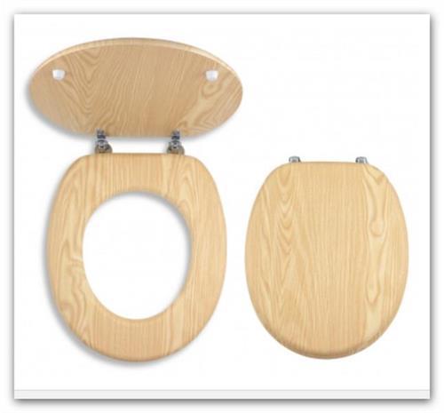WC sedátko z dýhovaného dřeva Prestige Jasan Novaservis