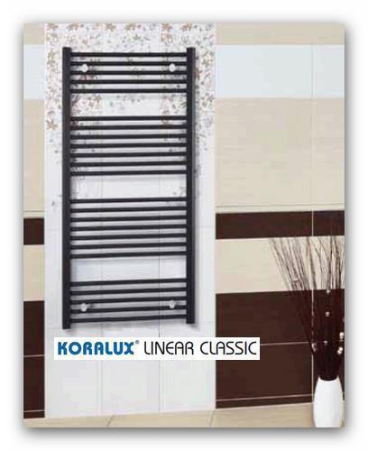 Koupelnový radiátor Koralux Linear Classic šířky 750mm-rovný bílý