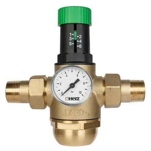 "Regulátor tlaku vody, redukční ventil na teplou vodu HERZ 1/2"" (DN15,PN16) 1268221"