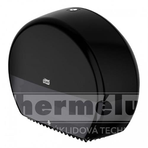 555008 - Zásobník na mini Jumbo toaletní papír T-Box Mini TORK černý T2 NEW
