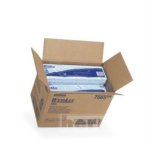 Utěrky WYPALL X80 410 x 335 mm, modré