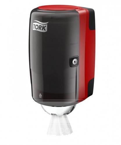 658008 - Zásobník na papírové ručníky v mini roli TORK červeno-černá M1 NEW