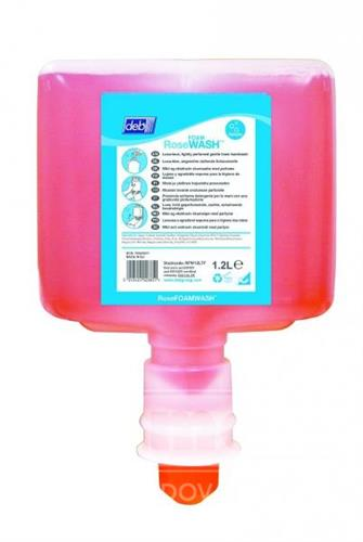 TF Deb Rose Foam Wash 1,2l - luxusní tekuté mýdlo