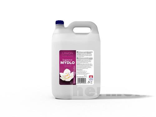 Tekuté mýdlo na dolévání - LAVON krémové mýdlo na ruce kašmír a orchidea 5l