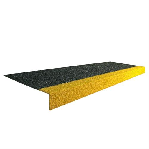 Protiskluzový schodový nášlap STAIR TREAD bezpečnostní černožlutý 1m x 345mm x 55mm