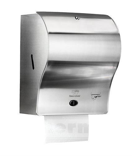 Nerezový zásobník na papírové ručníky v roli AUTOCUT SOFT senzorový