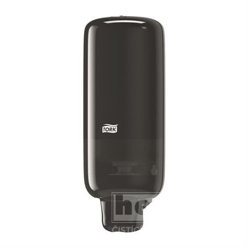 Plastový dávkovač na pěnové mýdlo S-Box TORK černý S4