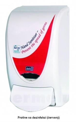 Plastový dávkovač dezinfekce PROLINE 1L červený