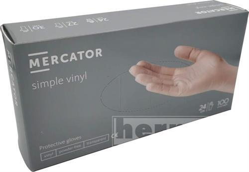 Rukavice jednorázové vinylové nepudrované velikost M 100ks